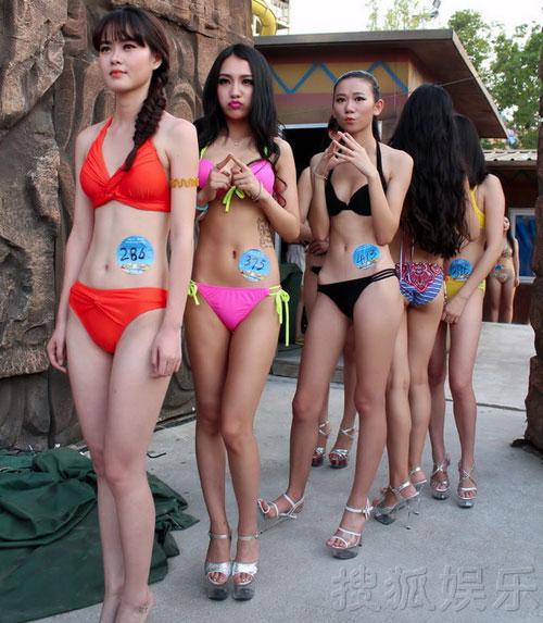 Thí sinh hoa hậu bikini nô nức khoe dáng - 3