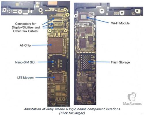 iPhone 6 để lộ bo mạch chủ có chip NFC - 3