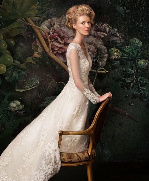 Đẹp xao lòng cùng váy cưới cổ điển - 9