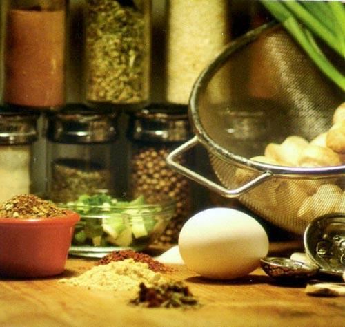 Thơm ngon, béo ngậy món trứng chiên thịt bò - 1
