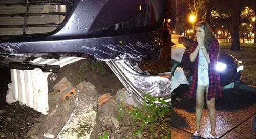 Kim Dung hoãn lịch quay phim vì tai nạn xe hơi - 1