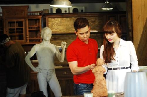 Bạn gái bán nude để Lê Hoàng (The Men) tạc tượng - 2