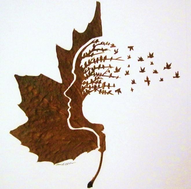 Chàng trai sáng tạo nghệ thuật trên lá đến khó tin - 5