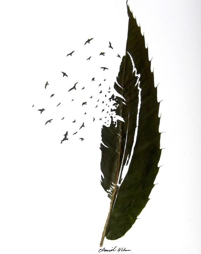 Chàng trai sáng tạo nghệ thuật trên lá đến khó tin - 6