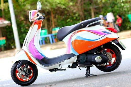 Vespa Primavera sơn phối màu hình nền điện thoại Sony - 1