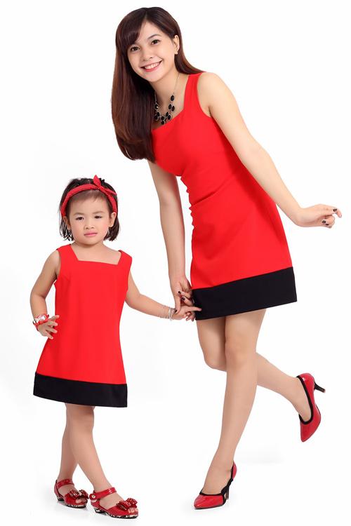 Bí quyết may váy đôi đẹp cho mẹ và bé - 1