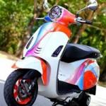 Ô tô - Xe máy - Vespa Primavera sơn phối màu hình nền điện thoại Sony