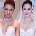Thời trang - Ngọc Anh, Hồng Quế mặc váy cưới đọ vòng 1 khủng