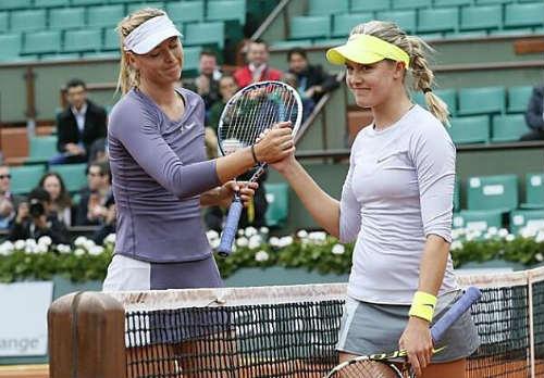 Bouchard trong đôi giày của Sharapova - 1