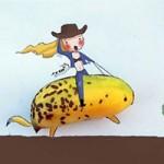 Bạn trẻ - Cuộc sống - 9X Việt vẽ tranh sinh động từ lá khô, đồ ăn