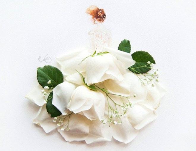 Cô gái thiết kế váy dạ hội tuyệt đẹp từ cánh hoa - 10
