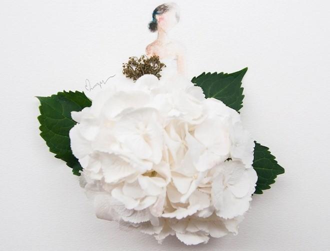 Cô gái thiết kế váy dạ hội tuyệt đẹp từ cánh hoa - 2