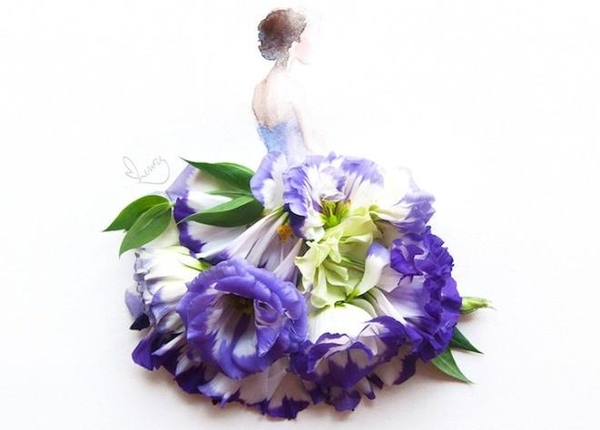 Cô gái thiết kế váy dạ hội tuyệt đẹp từ cánh hoa - 3