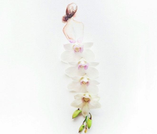 Cô gái thiết kế váy dạ hội tuyệt đẹp từ cánh hoa - 4