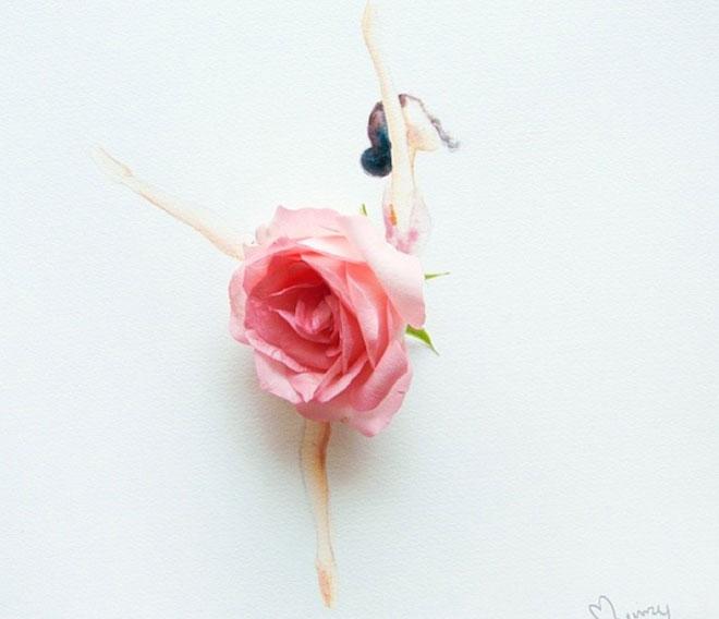 Cô gái thiết kế váy dạ hội tuyệt đẹp từ cánh hoa - 5