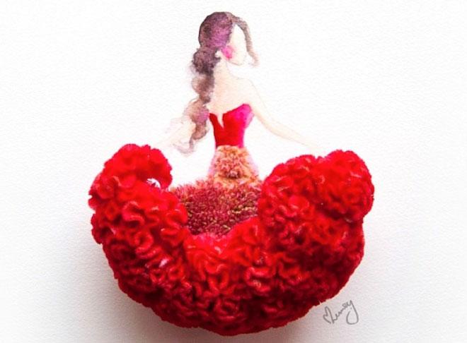 Cô gái thiết kế váy dạ hội tuyệt đẹp từ cánh hoa - 7