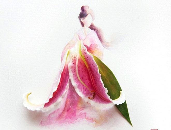 Cô gái thiết kế váy dạ hội tuyệt đẹp từ cánh hoa - 8