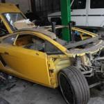 """Ô tô - Xe máy - """"Bò vàng"""" Lamborghini Gallardo bị """"mổ bụng"""" tại Hà Nội"""