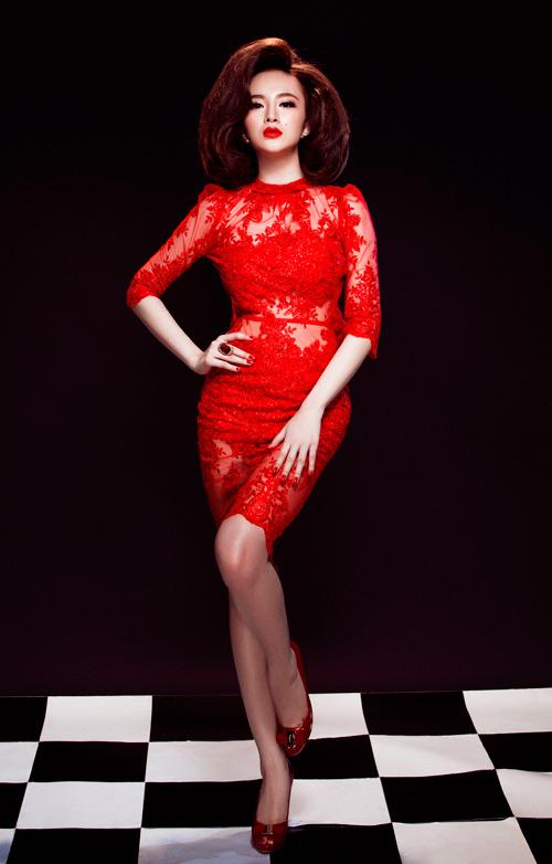 Angela Phương Trinh quyến rũ mê hồn với váy ren - 8