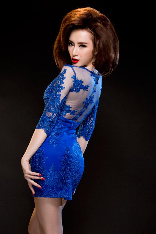 Angela Phương Trinh quyến rũ mê hồn với váy ren - 5