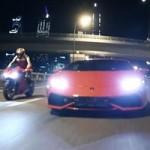 Ô tô - Xe máy - Siêu xe Lamborghini Huracan đọ sức siêu mô tô