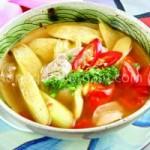 Ẩm thực - Thanh ngọt canh riêu trai nấu dọc mùng