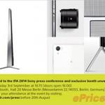 Thời trang Hi-tech - Sony lộ loạt thiết bị sắp ra mắt tại IFA 2014