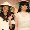 2ne1 thích thú với nón lá Việt Nam