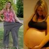 Mẹ bầu có vòng bụng mét rưỡi giảm 30kg trong nửa năm