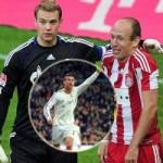 Bóng đá - Cầu thủ số 1 châu Âu: Vắng Messi, CR7 đấu Neuer, Robben