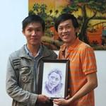 Bạn trẻ - Cuộc sống - 9X vẽ đẹp đến tận nhà riêng Hoài Linh tặng tranh