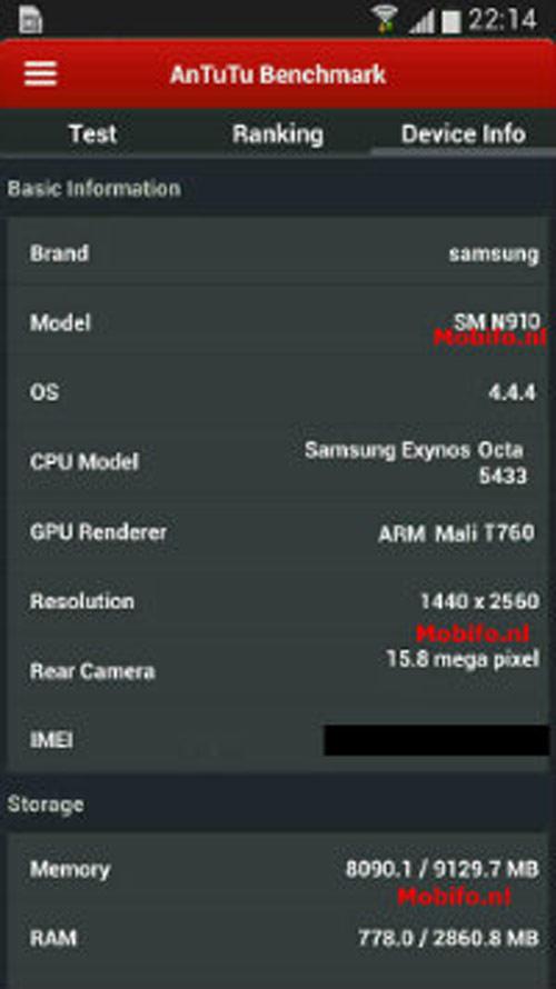Samsung Galaxy Note 4 có điểm chuẩn cực cao - 1
