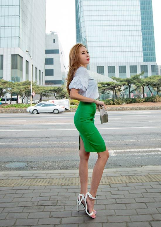 5 kiểu chân váy bút chì đẹp cho bạn gái - 4