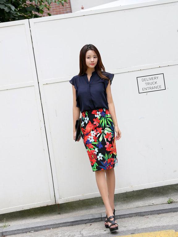 5 kiểu chân váy bút chì đẹp cho bạn gái - 11