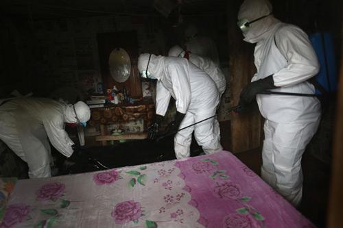 Khử trùng máy bay có hành khách đột tử vì nghi nhiễm Ebola - 2
