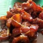Ẩm thực - Thịt ba rọi xào mắm ruốc ngon đã đời