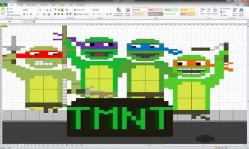 8 bức ảnh không tưởng vẽ bằng MS Excel - 5