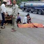 Tin tức trong ngày - Xe khách đâm chết 1 người và 3 con trâu trên cao tốc