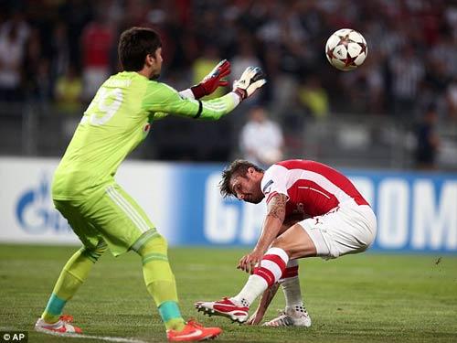 """Arsenal: Giroud không thể là """"nhân tố gây sợ hãi"""" - 1"""