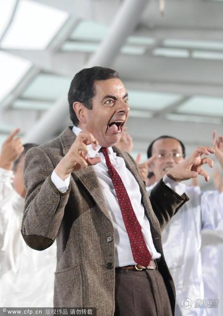 Vua hài Mr. Bean quậy hết cỡ trên quảng trường Thượng Hải - 8