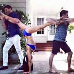 Làm đẹp - Kỳ lạ người đẹp tập yoga ở mọi lúc mọi nơi