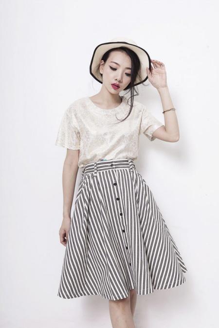 Xinh tươi với váy áo vintage đón khúc giao mùa - 6