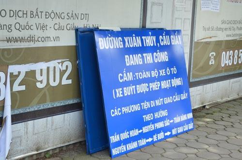 Sau nghỉ lễ 2/9, HN cấm ô tô tuyến Xuân Thủy-Cầu Giấy - 8