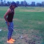 Thể thao - Cháu gái biểu diễn kinh điển như Tiger Woods