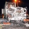 Xe container cháy dữ dội trên đường dẫn cao tốc