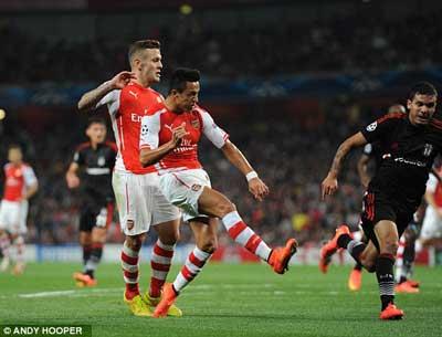 TRỰC TIẾP Arsenal – Besiktas: Căng thẳng (KT) - 4