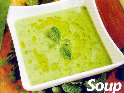 Chả viên chay và súp đậu Hà Lan bạc hà - 2