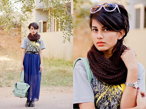 Thiếu nữ Ấn Độ nổi tiếng thế giới nhờ mặc đẹp - 7