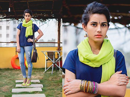 Thiếu nữ Ấn Độ nổi tiếng thế giới nhờ mặc đẹp - 1