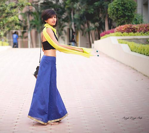 Thiếu nữ Ấn Độ nổi tiếng thế giới nhờ mặc đẹp - 5